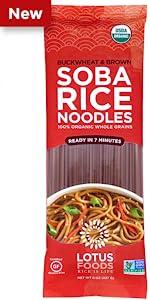Lotus Foods Organic Buckwheat amp; Brown Soba Rice Noodles