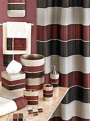 modern line burgundy bathroom accessories