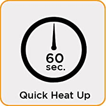 QUICK HEAT-UP IN 60 SECONDS