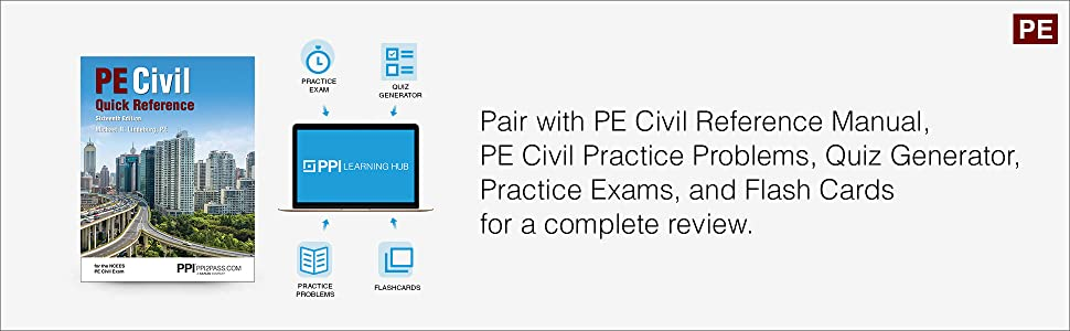 Pair with PE Civil Reference Manual, PE Civil Quick Reference for a complete review.