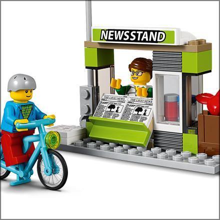 lego city la gare routi re 60154 jeu de construction jeux et jouets. Black Bedroom Furniture Sets. Home Design Ideas