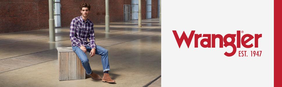 Wrangler Red Kabel jeans uomo