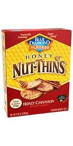 Nut-Thins Cracker Crisps, Honey Cinnamon