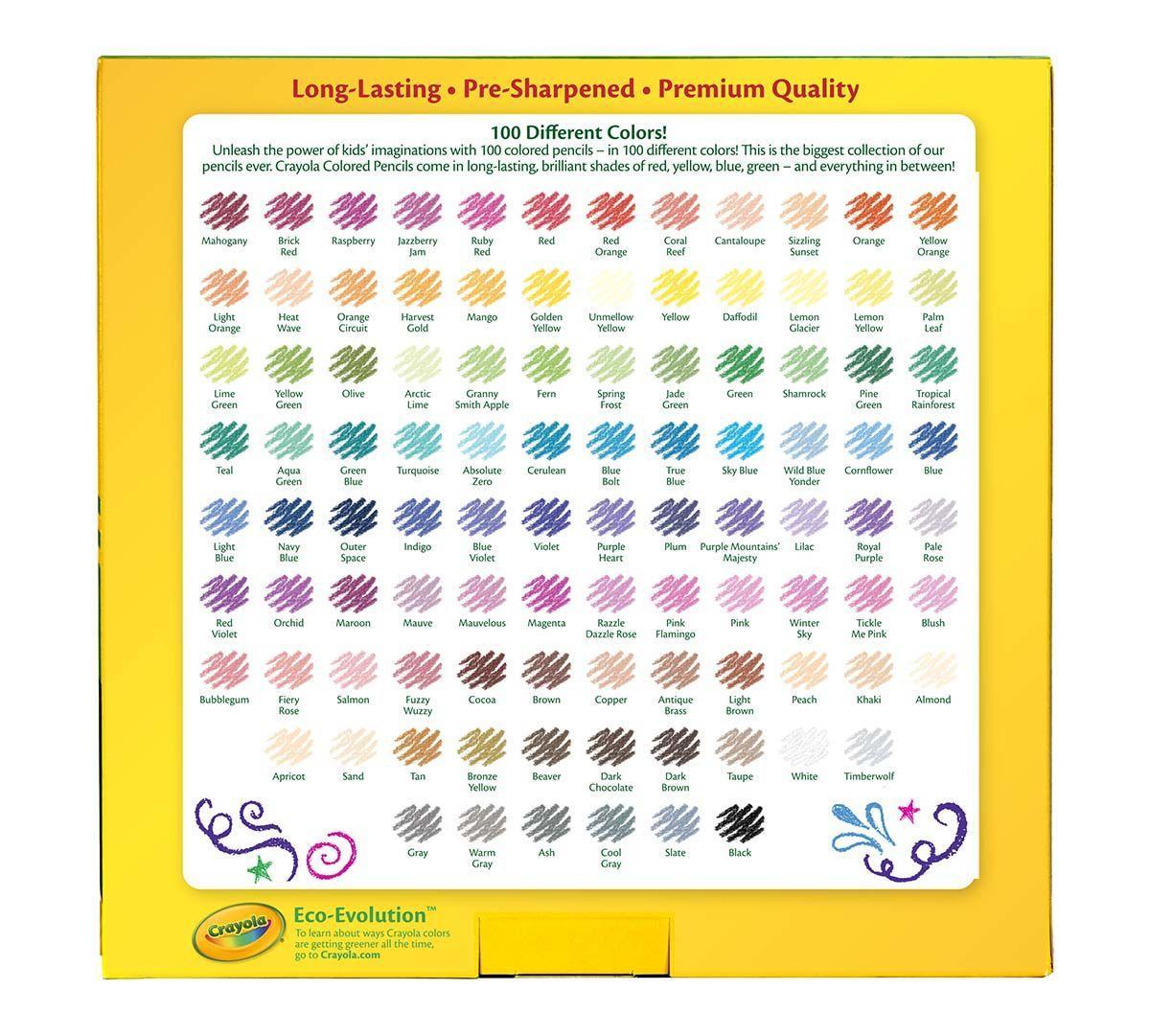 Crayola 100 Coloured Pencils: Amazon.ca: Toys & Games