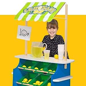bacs Tableaux Noirs Melissa et Doug /épicerie en Bois Store et Stand de Limonade/ /R/éversible pour auvent 9