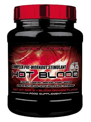 Scitec Nutrition Hot Blood 3.0 Fórmula Pre Entrenamiento Naranja de Sange - 300 g