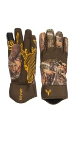 mens gamekeeper gloves hot shot hunting realtree edge camouflage camo
