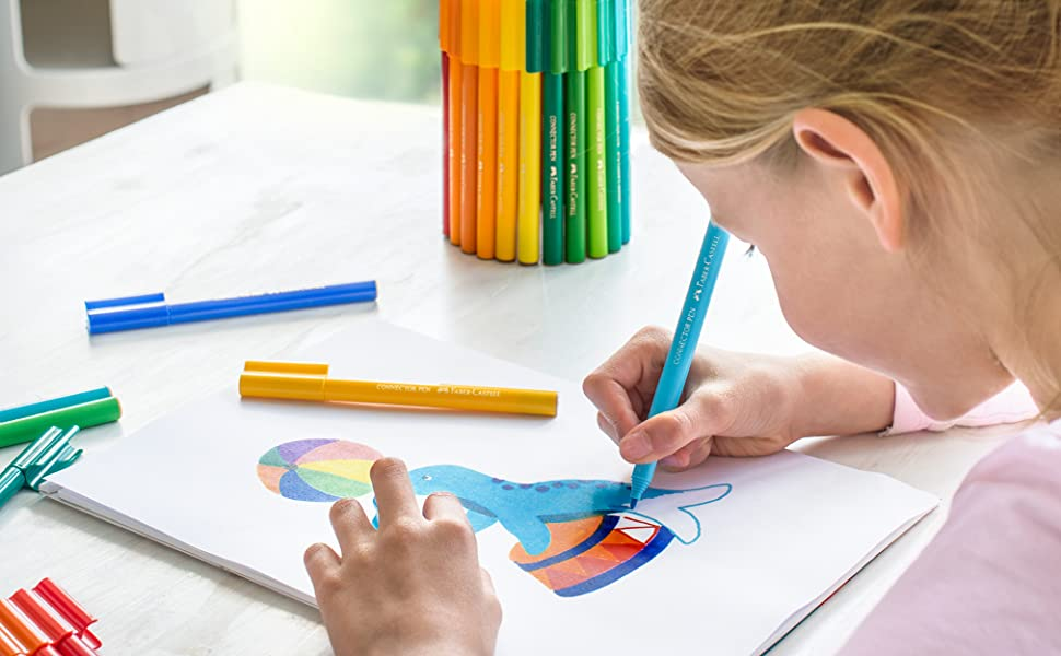 Connector Pen, Colour Marker, Drawing, Creativity, Inspiration, Imagination, Kids, Children, Fun