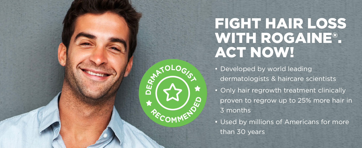 Fight Hair Loss With Rogaine Dermatologist Recommended
