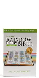 Rainbow Study Bible, Specialty Bible, Bible study tools, Hardcover Rainbow Bible