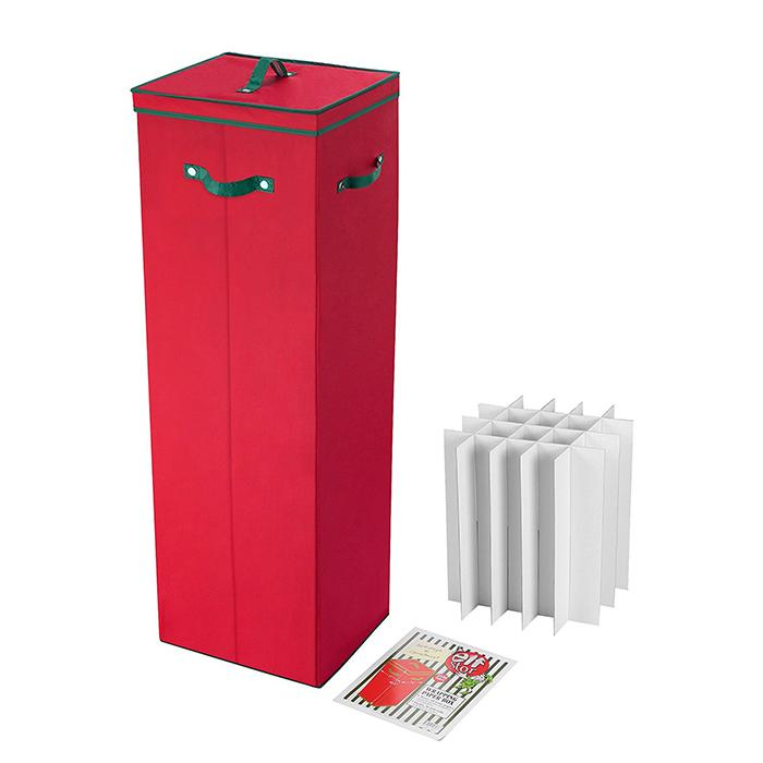 40 in tall wrapping paper storage box in red. Black Bedroom Furniture Sets. Home Design Ideas