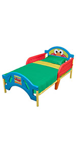 Plastic Toddler Bed, Sesame Street