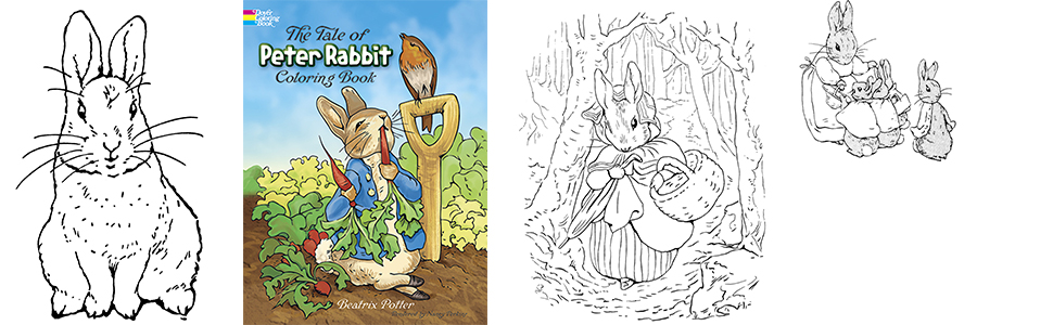 - The Tale Of Peter Rabbit Coloring Book (Dover Classic Stories Coloring  Book): Potter, Beatrix: 9780486217116: Amazon.com: Books
