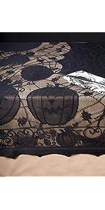 halloween tablecloth, lace tablecloth, halloween decor