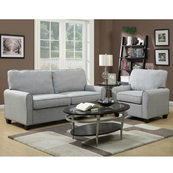 Sofa,Tufted Back Sofa,Arm Chair,Faux Leather Sofa,Side Chair, · View  Larger. Generously Padded Back Pillow Gives This Sofa ...