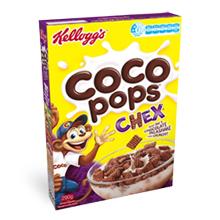 Kellogg's Coco Pops Chex cereal box