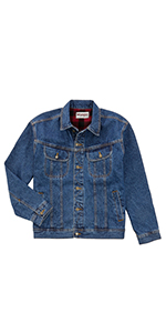 Wrangler Rugged Wear Flannel Lined Denim Jacket