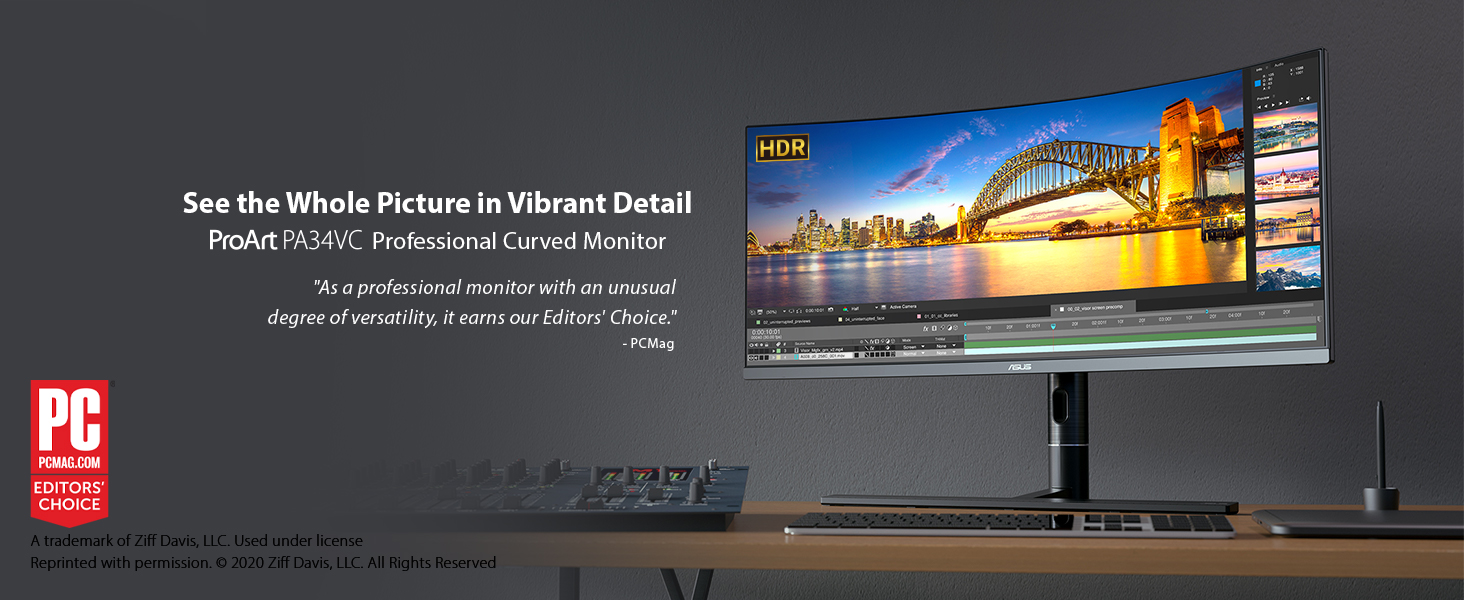 ASUS ProArt Curved Monitor 34 inch