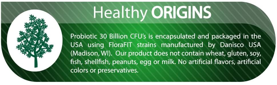 Healthy Origins Probiotic 30 Billion CFUs Shelf Stable, 150 Veggie Caps