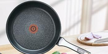 Tefal Expertise - Juego de 3 Sartenes Aluminio de 21, 24 y 26 cm, Antiadherente con Extra de Titanio, Aptas para Todo Tipo de Cocinas Incluido ...