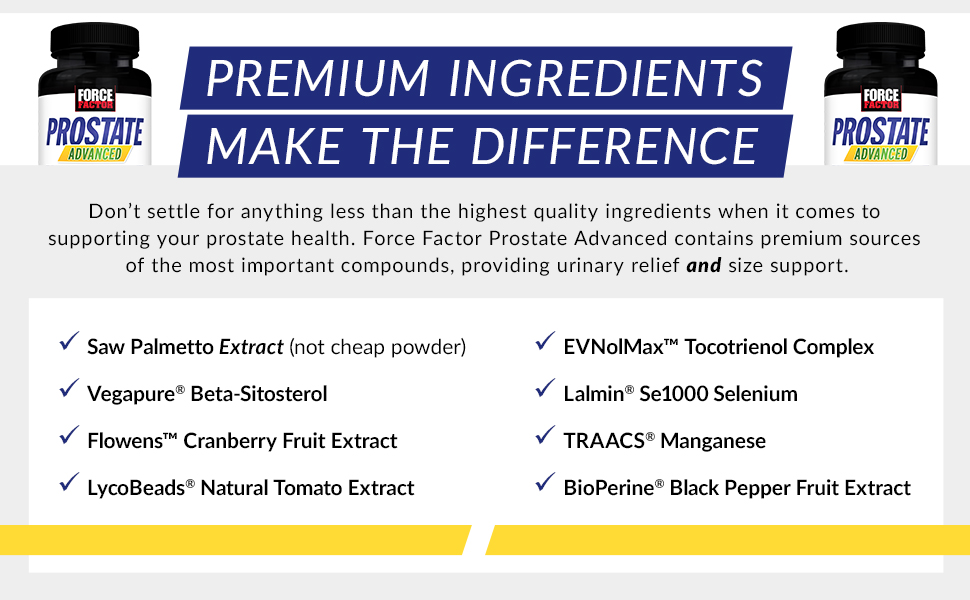 Premium Ingredients Make the Difference