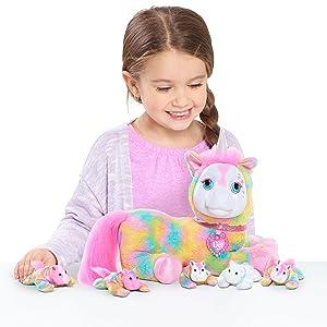 rainbow unicorn, stuffed horse, stuffed unicorn, unicorn surprise, unicorn toys, girls toys