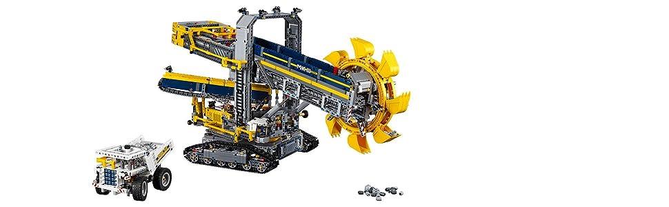 LEGO Bucket Wheel Excavator Banner - Excavator and rugged mine truck