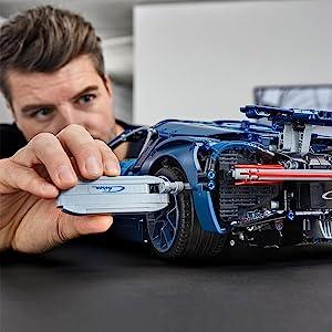 Amazon Com Lego Technic Bugatti Chiron 42083 Race Car Building Kit