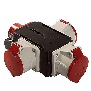As Schwabe Mixo Adapter Stromverteiler Elbe Cee Stecker 3 5 Polige Cee Steckdosen Robuster Baustellen Starkstrom Verteiler Ip44 Made In Germany I 60832 Baumarkt