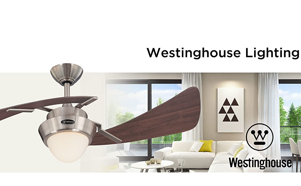 Contemporary style indoor ceiling fan adds energy-efficient airflow and LED illumination.