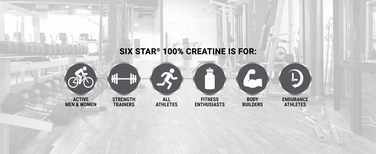 Six Star 100% Creatine is for