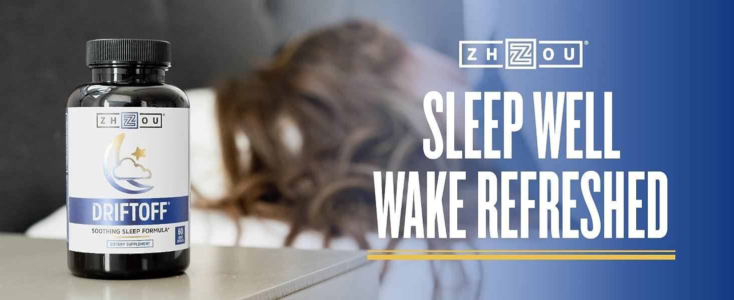 Amazon Com Driftoff Premium Sleep Aid With Valerian Root Melatonin Sleep Well Wake Refreshed Non Habit Forming Sleep Supplement Also Includes Chamomile Tryptophan Lemon Balm More 60