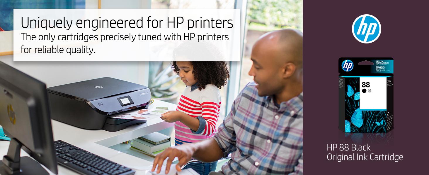 88 black color xl hp ink cartridges cartridge printer Hewlett Packard