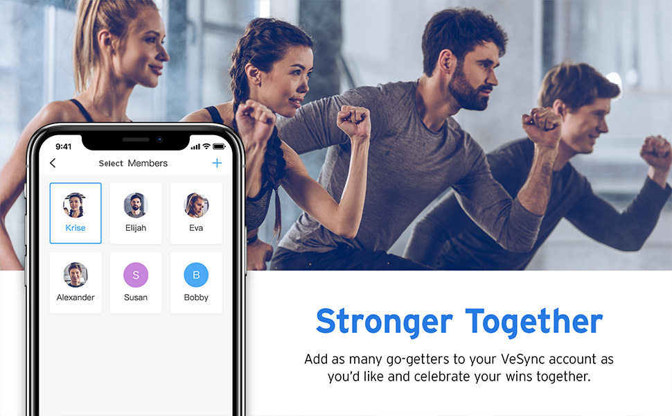 you can share body data to your friends.