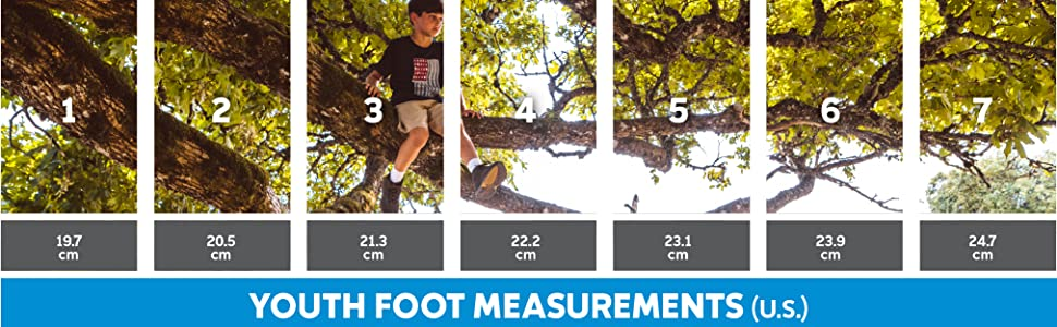 Kids shoe size and fit guide