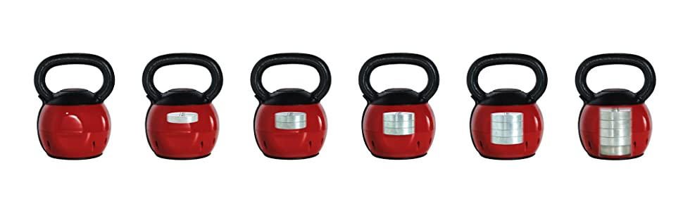Stamina Versa-Bell 36 lb Strength Training Adjustable Kettlebell Patented Handle Grip Cast Iron
