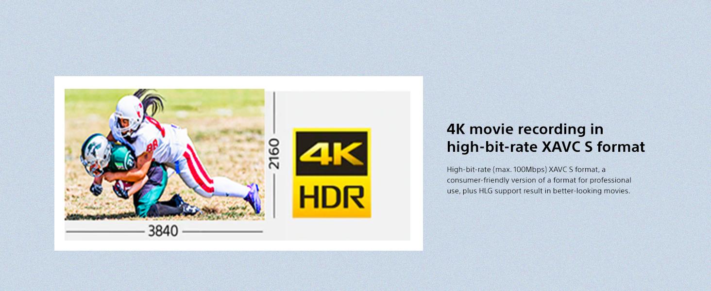 4K movie recording