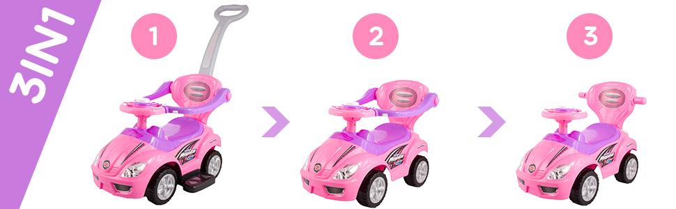 Das Kinderfahrzeug der Serie: Deluxe Mega Car 3 in 1