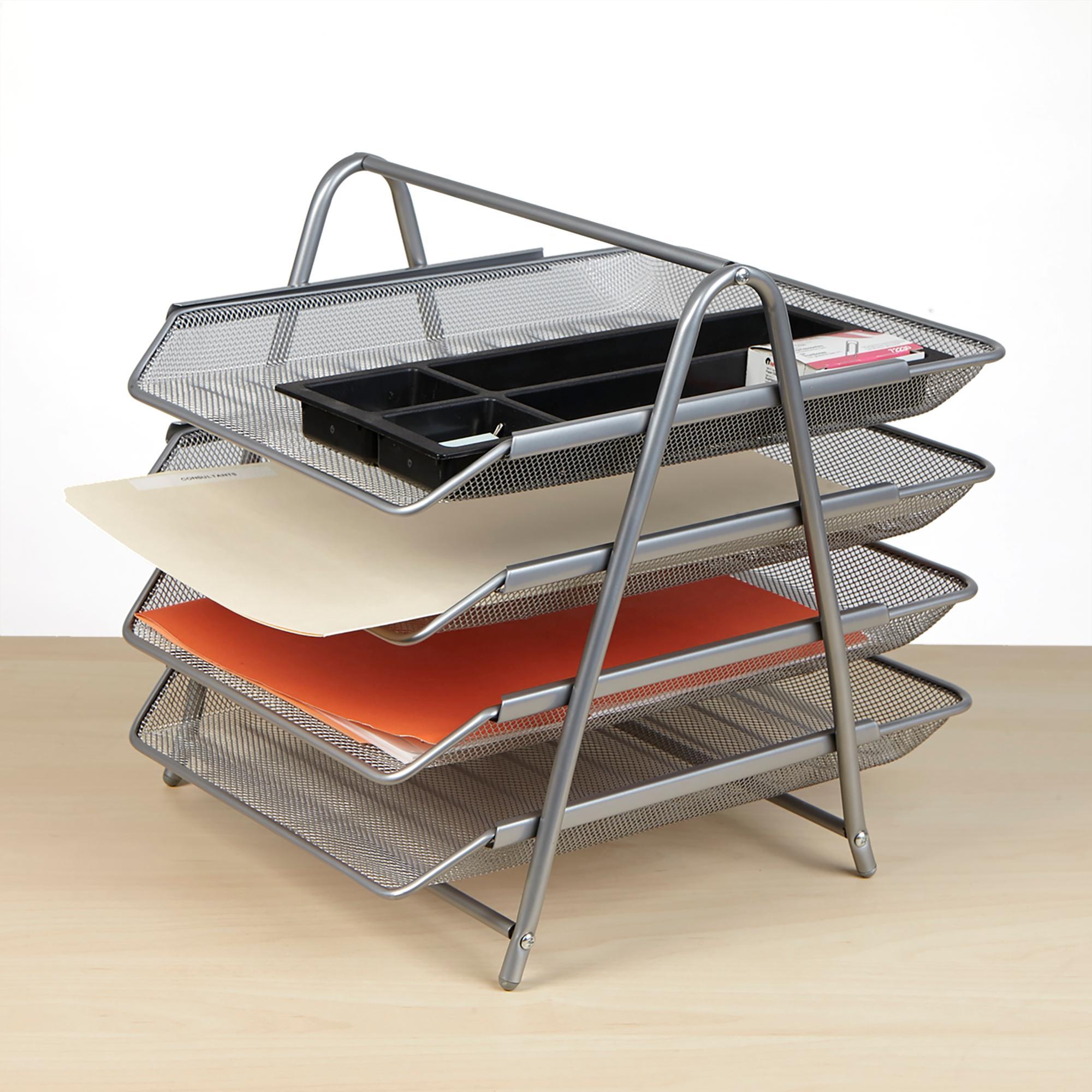 Amazon Com Mind Reader Desk Organizer With 4 Sliding