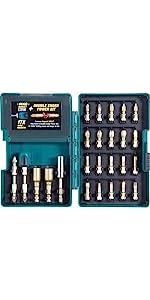 drill bit set; Makita bit set; set of bits for drills; driver drill bit set; hammer drill bit set