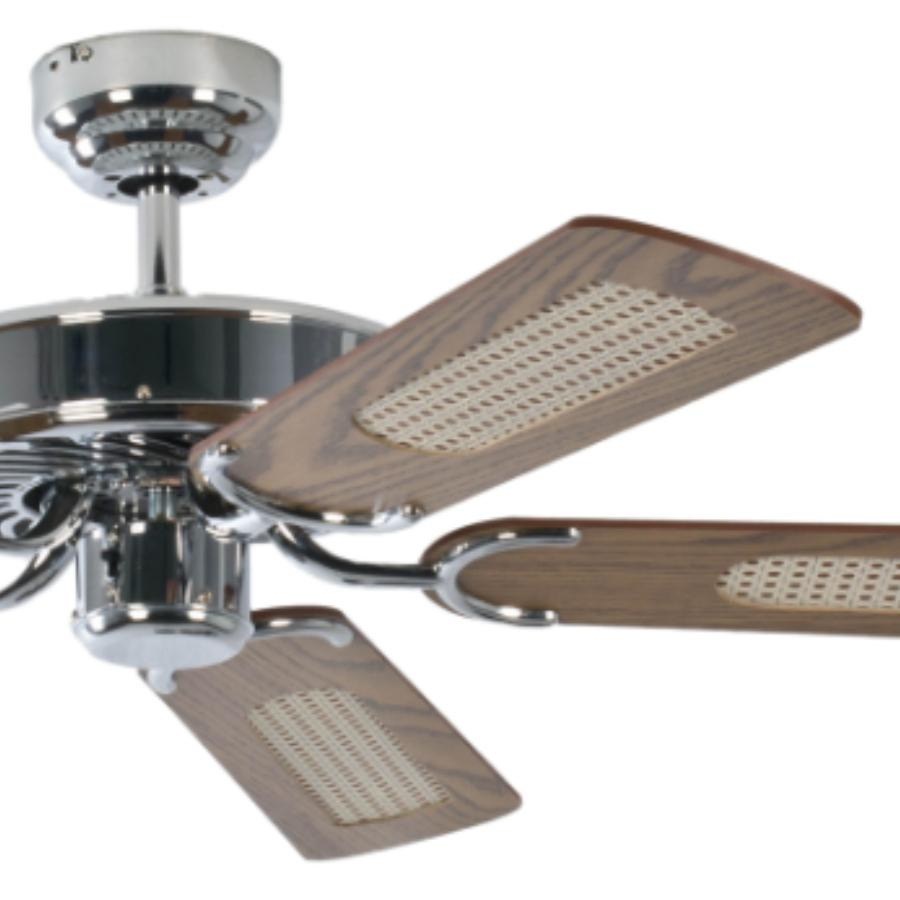 Pepeo GmbH 13322010132_v1 Ventilador de techo, 58 W, 240 V, Gris, 132 cm