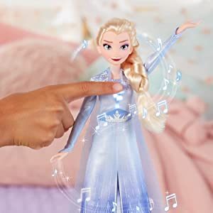 frozen 2 movie dolls; singing elsa doll; toys for 3 year old girls;elsa toy singing into the unknown