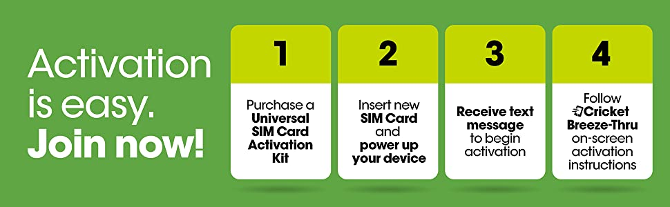 Cricket Wireless Prepaid Universal SIM Card Kit