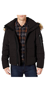Puffer Jacket with Faux-Fur Trimmed Hood