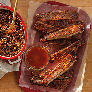 Rodney's Ribs with Baked Cowpeas