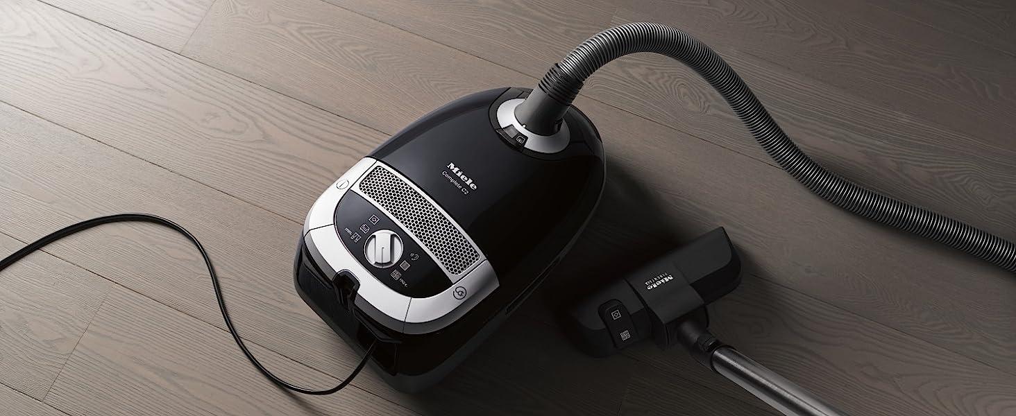 Miele 10660740 Complete C2 PowerLine Bagged Vacuum Cleaner, 900 W, Obsidian Black