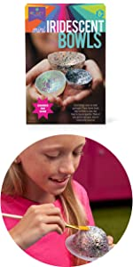easy room decor for kids craft for teens tweens iridescent glitter holographic bowls
