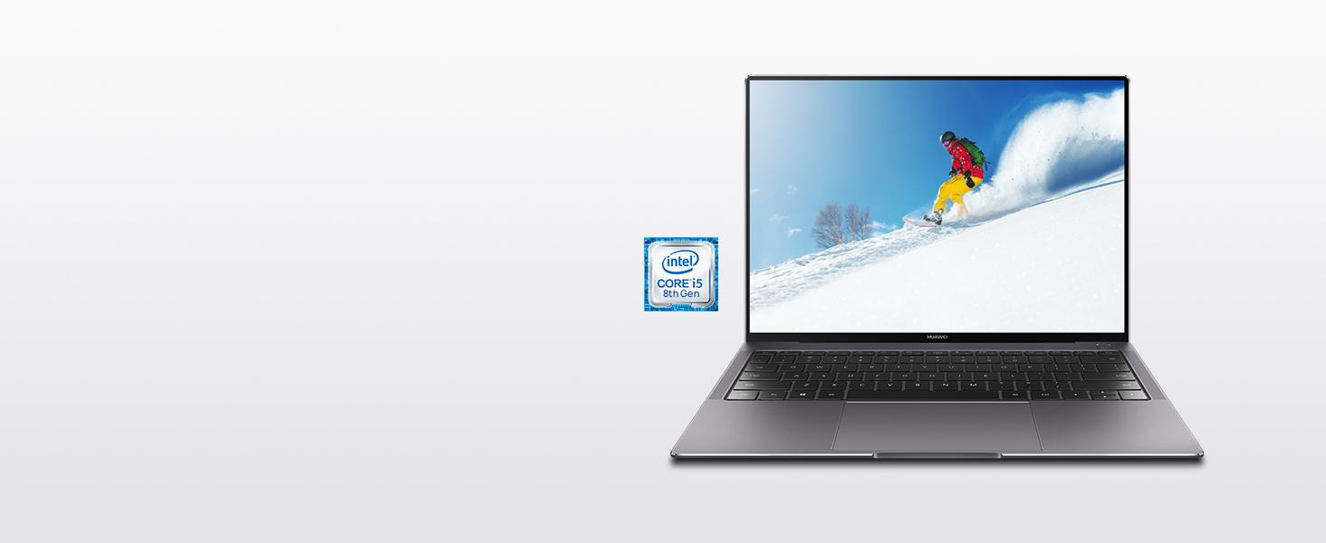 matebook. El procesador Intel Core i5 8250U de 8ª, aumenta el rendimiento en relación con su antecesor.
