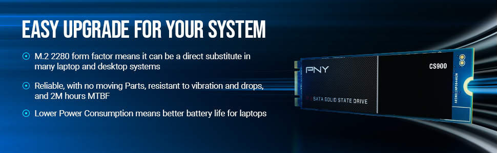CS900 M.2 SATA III SSD - Easy Upgrade for your System