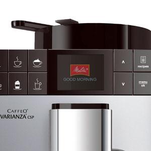 Melitta Caffeo Varianza CSP 570-101, Cafetera Superautomática | Modo Eco | Contenedor de Leche Externo | 10 Recetas de Café Preregistradas | Plata, 1450 W, 1.2 litros, Acero Inoxidable, 5 Velocidades: Amazon.es: Hogar